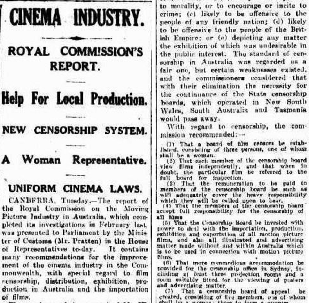 Royal Commission into the Moving Picture Industry